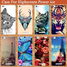 Stand Function Case For Highscreen POWER Ice Cover Flower Animal Eiffel Tower 3D diy Design Case Cover FOR highscreen Power ICE