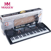 2017 New toy piano with microphone 61 Keys Digital Music Electronic Keyboard Key Board Electric Piano birthday Gift For Children