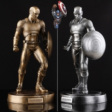 New  Captain America 3 III Civil War Brozen or Sliver Color Painted Resin Figure Statue Avengers