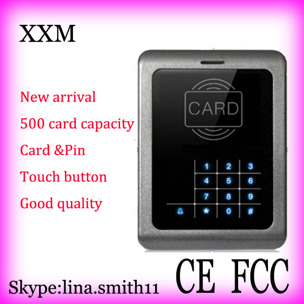 Free shipping card and pin access control machine touch button EM card reader<br>
