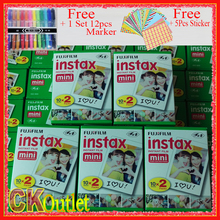 Original 100 Sheets Fujifilm Instax Mini 8 9 Film VALID UNTIL 2019-4 + Free Marker Sticker for Polaroid Mini Camera 7S 70 90