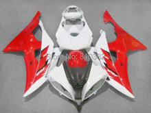 Injection Fairing kit for YZFR6 08 09 10 11 12 YZF R6 2008 2009 2010 2012 YZF600 Fashion red white Fairings set+7gifts YG11