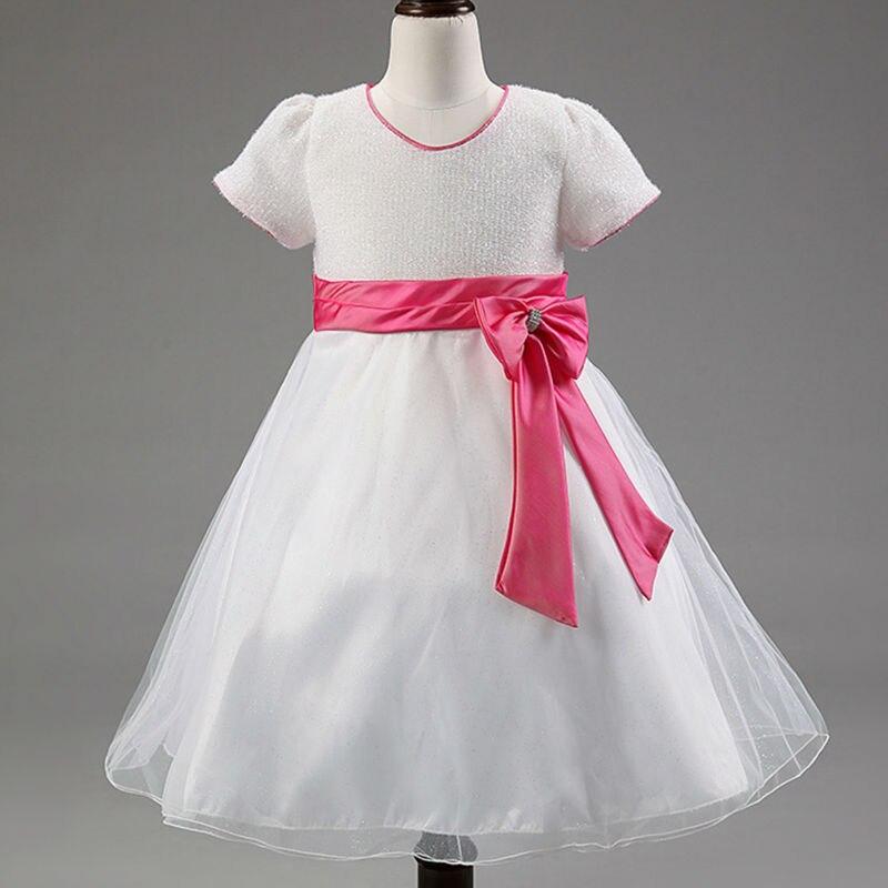 Formal Summer Girl Dress Princess Dresses Kids Wedding Bow Party Dress Girl Clothes<br><br>Aliexpress