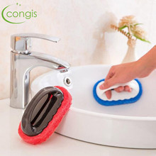Congis 1PC Home Strong Decontamination Bath Brush Magic Sponge Tiles Brush kitchen Supplies Wash Pot Clean Brush Sponge Rub(China)