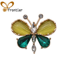 jewellery brooches Butterfly Brooch for Women Rhinestone Brooch Fashion Bijouterie Wedding Jewelry Gold color Plated Lead Free