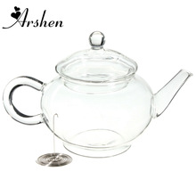 Arshen 250ml/8.5oz Borosilicate Durable Glass Teapot Heat Resistant Bottle Cup for Blooming Tea Herbal Coffee With Infuser