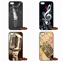 Old School Style Microphone Music Case Cover For iPhone SE 4 4S 5S 5 5C 6 6S Plus Samsung Galaxy S2 S3 S4 S5 MINI S6 S7 Edge