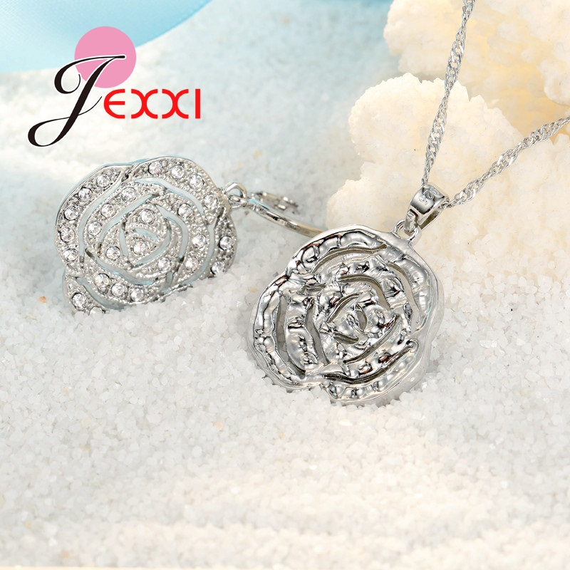 JEXXI-Classic-Rose-White-Women-Jewelry-Sets-Silver-Color-Pendant-Earrings-And-Necklace-Jewelry-Sets-High (4)