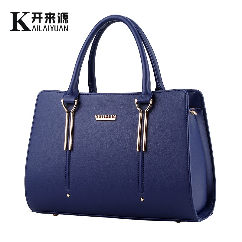 100% Genuine leather Women handbag 2017 New Sweet lady styling fashion Crossbody Shoulder Handbag women messenger bags(China)