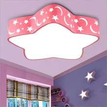 Blue&Red&White Star Led Ceiling Light Child Bedroom Cartoon Living Room Home Decoration Lamp Kid's Room Lighting Free shipping