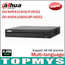 Cost Effective Dahua 8MP Network Video Recoder NVR4108HS-8P-HDS2 NVR4104HS-P-HDS2 4/8CH NVR Support ONVIF CGI Conformant