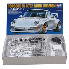OHS Tamiya 24247 1/24 911 GT2 Road Version Club Sport Scale Assembly Car Model Building Kits