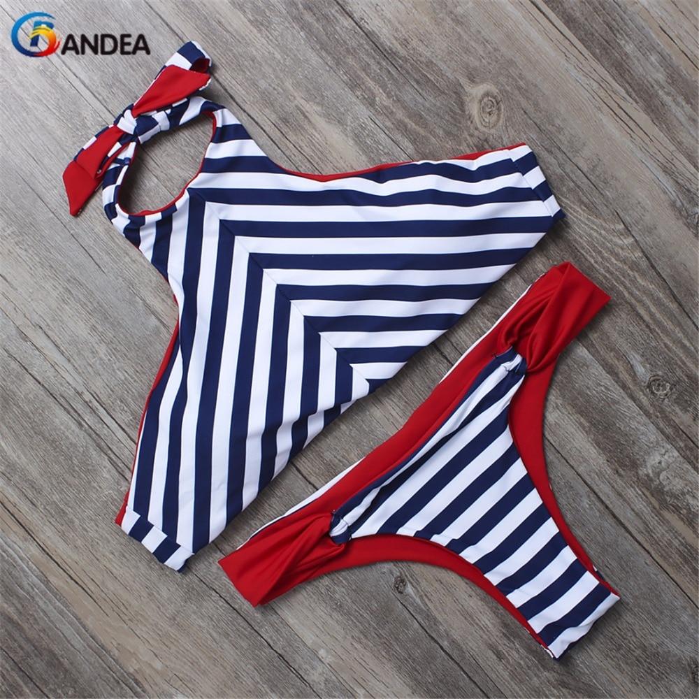 BANDEA retro swimsuit brand sexy swimsuit low waist brazilian swimwear bottom trajes de bano stripe bathing suit <br><br>Aliexpress