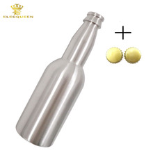 12OZ 330ml Mini Stainless Steel Beer Bottle With 2Pcs Bottle Cap,Standard Brew Equipment(China)