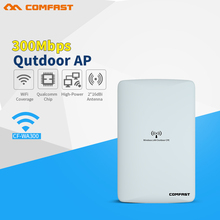 COMFAST 2.4G high power outdoor AP 300Mbps long range Signal Booster extender 1-5km Wireless AP dual 16dbi outdoor wifi router(China)