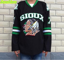 SexeMara Christmas Black Friday UND North Dakota Fighting Sioux #7 TJ Oshie Black Alternate Jersey