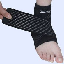 1Pc Aolikes Ankle Support Adjustable Sports Elastic Ankle Support Brace Pad Foot Protection Football Basketball Sports Safety(China)