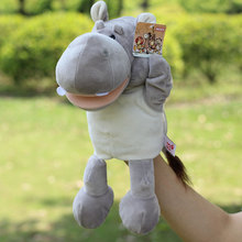 Hot Sale Plush Puppet Toys River Horse Hand Puppets Doll Parent-child Interactive Games Toys Hippo Best Birthday Christmas Gifts