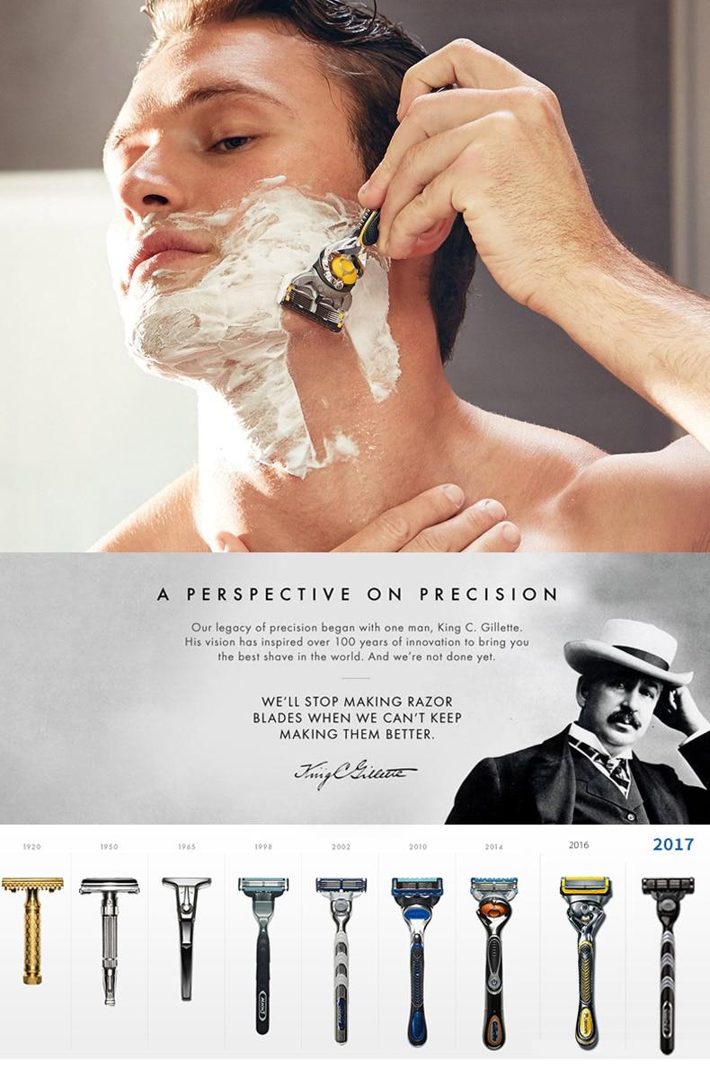 Gillette Fusion Proshield Razor Blade manual Shaving shave shaver razors Blades Men face care safety 4pcs-3