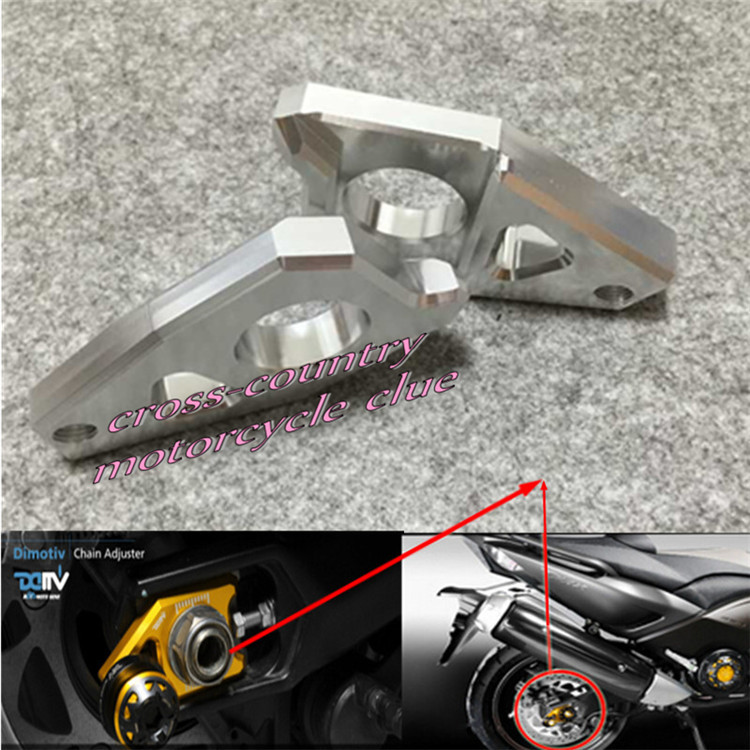 Free shipping Motorcycle CNC Rear Axle Spindle Chain Adjuster Blocks Fit for Yamaha TMAX 530 500 FZ8 FZ1 YZF R1  silver<br><br>Aliexpress