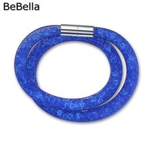 BeBella 8 colors star double bracelet filling with colored crystals for Christmas gift(China)