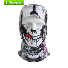 BATFOX Cycling Face Mask Outdoor Sports Skull Print UV Protect Windproof Breathable Riding Cap Headscarf Dustproof Ski Bike Mask