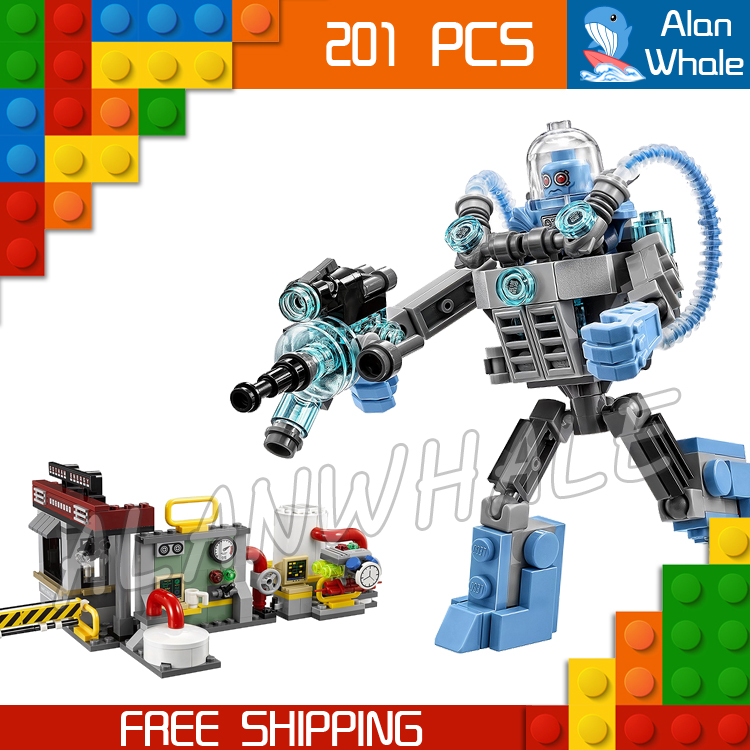 201pcs New Super Heroes Batman 07049 Mr. Freeze Ice Attack DIY Model Building Kit Blocks Gifts Movie Toys Compatible with Lego<br><br>Aliexpress