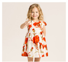 New spring and summer girls dress Korean princess dress printing female baby factory direct foreign trade(China)