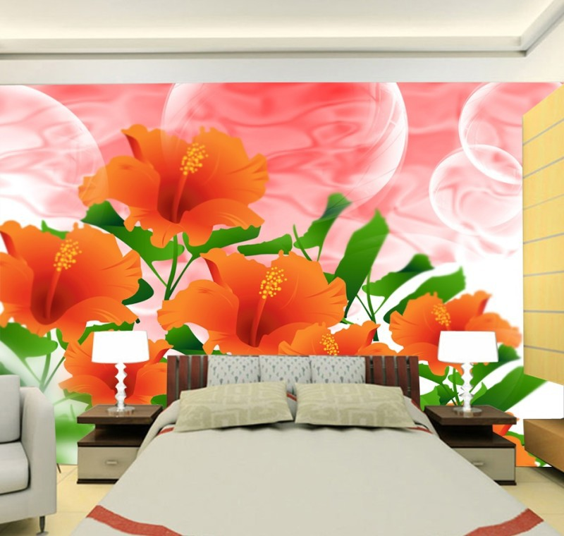 Custom 3d mural photo floral style 3d papel de parede 3d wallpaper 3d wall paper mural use for living room sofa tv background<br><br>Aliexpress