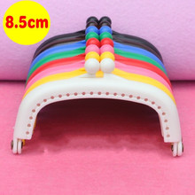 Syunss,8PCS 8.5CM High Quality Candy Color Plastic Porous Purse Frame Kiss Clasp Coin Cluth DIY Handmade Sewing Bag Accessories
