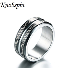 Fashion 8MM Stainless Steel Rings with Hematite High Polished Men Ring Health Care Jewelry anel masculino(China)