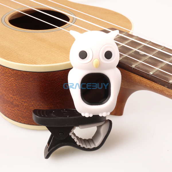 Universal Clip-On LCD Digital Chromatic Electronic Tuner Brown White SWIFF Tuner For Guitar Ukulele Violin Bass Carton Owl Style<br><br>Aliexpress