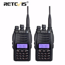 2 pieces Retevis RT23 Walkie Talkie Dual Receive Dual PTT 5W 128CH VHF UHF Dual Band CTCSS/DCS FM Radio Cross-Band Repeater Func(China)