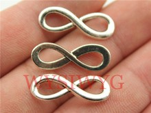 WYSIWYG 15pcs 23*8mm antique silver infinity charms