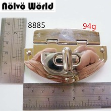 Nolvo World Light Golden Color Big Metal lock accessories for Suitcase bag purse making,supply by hardware factory direct