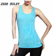 Women Yoga Sleeveless Tee Shirts Elastic Sports Running Jogging Training Vest Ladies Breathable Gym Exercise Fitness Tanks Tops(China)