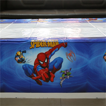 Spider man tablecloth 1 Pc disposable table cloth theme kids happy birthday party supplies decoration plastic table cover