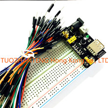 MB102 Breadboard Power Module+MB-102 830 Points Solderless Prototype Bread Board kit +65 Flexible Jumper Wires