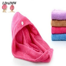 LDAJMW High quality Womens Girls Lady's Magic Quick Dry Bath Hair Drying Towel Head Wrap Hat Makeup Cosmetics Cap Bathing Tool(China)