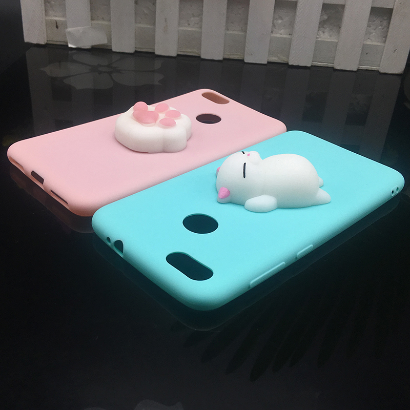 3d Squishy Cat Silicon TPU Soft Cases For Huawei P20 lite P20 pro P9 lite mini 2017 Candy Color Back Cover Honor 8 lite P10 plus (3)
