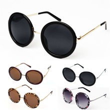 Fashion Unisex Women Fashion Retro Vintage Style Sunglasses Glasses Lady Round Metal Frame 5 Color Sun Glassses Women Femme F1