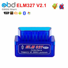 Super Mini ELM327 V2.1 Car Code Reader With Bluetooth OBD2 Bluetooth ELM 327 Auto OBD Diagnostic Scanner Support Multi-language(China)