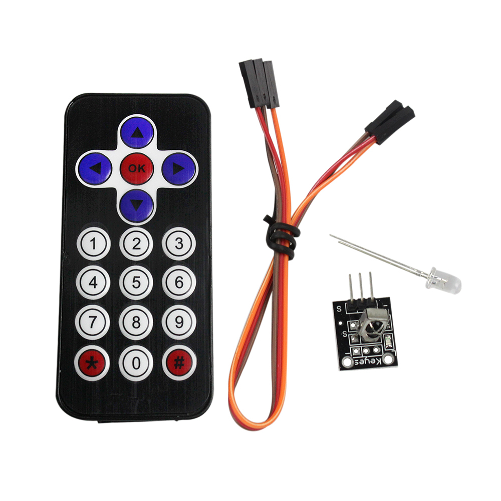 Smart Electronics Hot Sale Black Infrared IR Wireless Remote Control Module Kits for arduino DIY Kit(China)