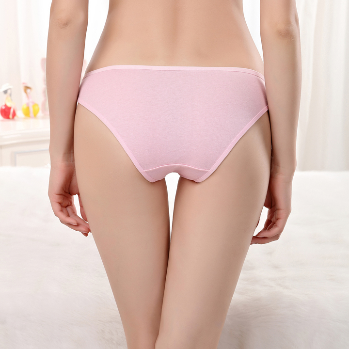 5 pcs Woman's Underwear, Cotton Briefs, Solid Cute Bow Low-Rise, Sexy Ladies Girls Panties Lingerie 16