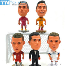 2017 New 6.5cm Madrid CR7 Cristiano Ronaldo Figure Jersey Football Portugal Real CR7 Ronaldo Toys collection gifts free shipping