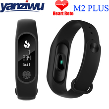 2PCS M2 PlUS Smart Touch Screen Watch Fitness Tracker Heart Rate Wristband Band Message Call Reminder for Xiaomi Android iOS(China)