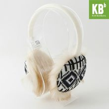 2017 KBB Spring Winter Hot Style Faux Fur with Line & Blocks Design White Women Men Children Girl Boy Knit Winter Earmuffs(China)