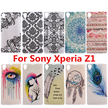 For Sony Xperia Z1 L39H C6902 C6903 Silicone ShockProof Phone Back Skin Cover Bags Fashion Ultra Thin Gel Soft TPU Pattern Case