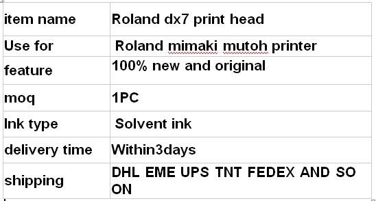 roland dx7 printhead