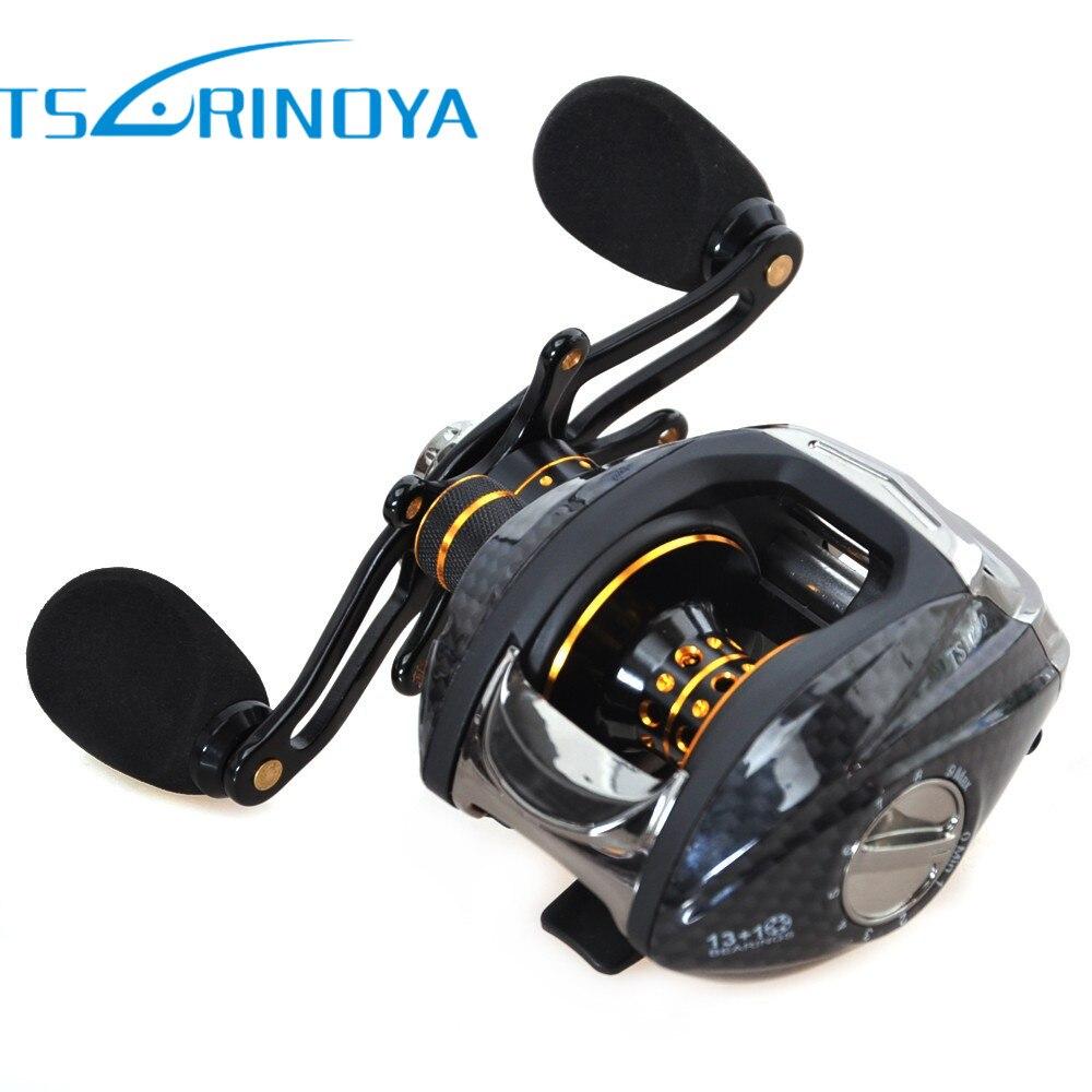 Tsulinoya TS1200 Fishing Reels 14BB 6.3:1 Line 0.33mm-100m Molinetes Peche Mer Carretilha De Pesca Baitcasting Wheel<br>